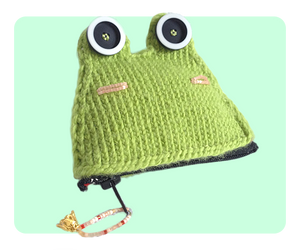 Frog Coin Purse zip closed