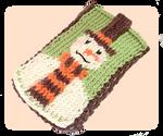 Snowman Mobile Phone Case Knitting Pattern by AmareeLis