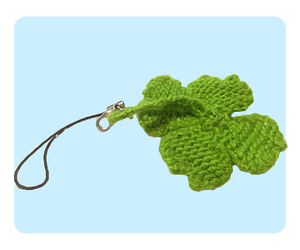 Four Leaf Clover Keychain Free Knitting Pattern