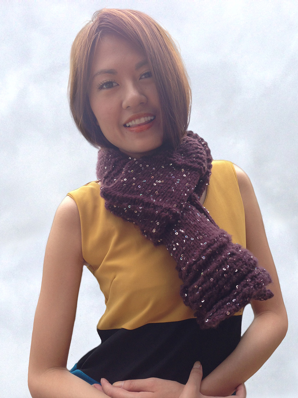 Ruffle Wave Beginner Scarf Knitting Pattern by AmareeLis