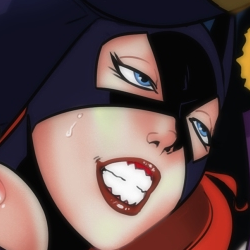 Batgirl Begins-to Lose (super censored) by drawnthatwayxx