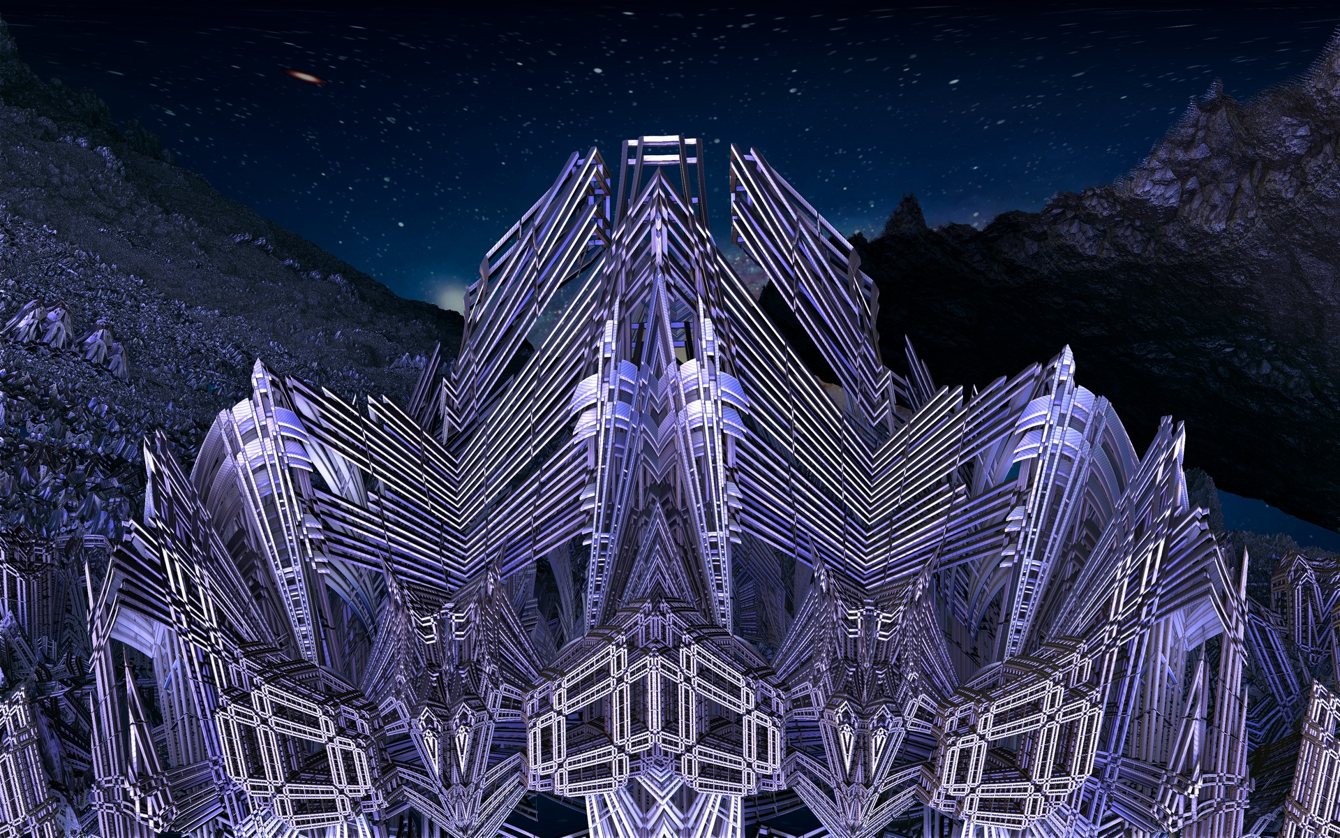 Alien construction site by Topas2012