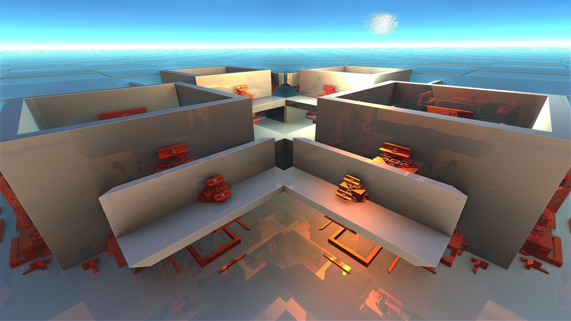 Tweak Undead-Academy- Blue-Temple- MODERN HOUSE by Topas2012