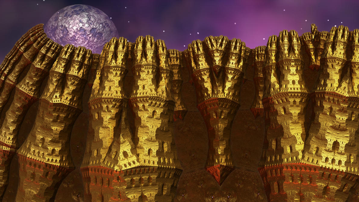 Eternal Golden Castle by Topas2012