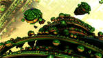 Exploding Green life forms  Pong 99 by Topas2012