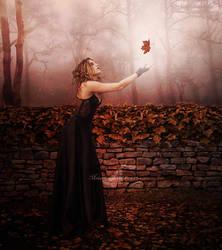 A Leaf In Autumn by maiarcita