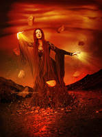 Fire and Rocks by maiarcita