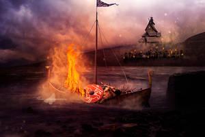 Viking Funeral by maiarcita