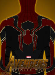 Poster Fan-art Iron Spider Avengers Infinity by LaxXter