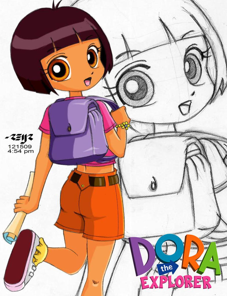 dora the explorer colored by reijr