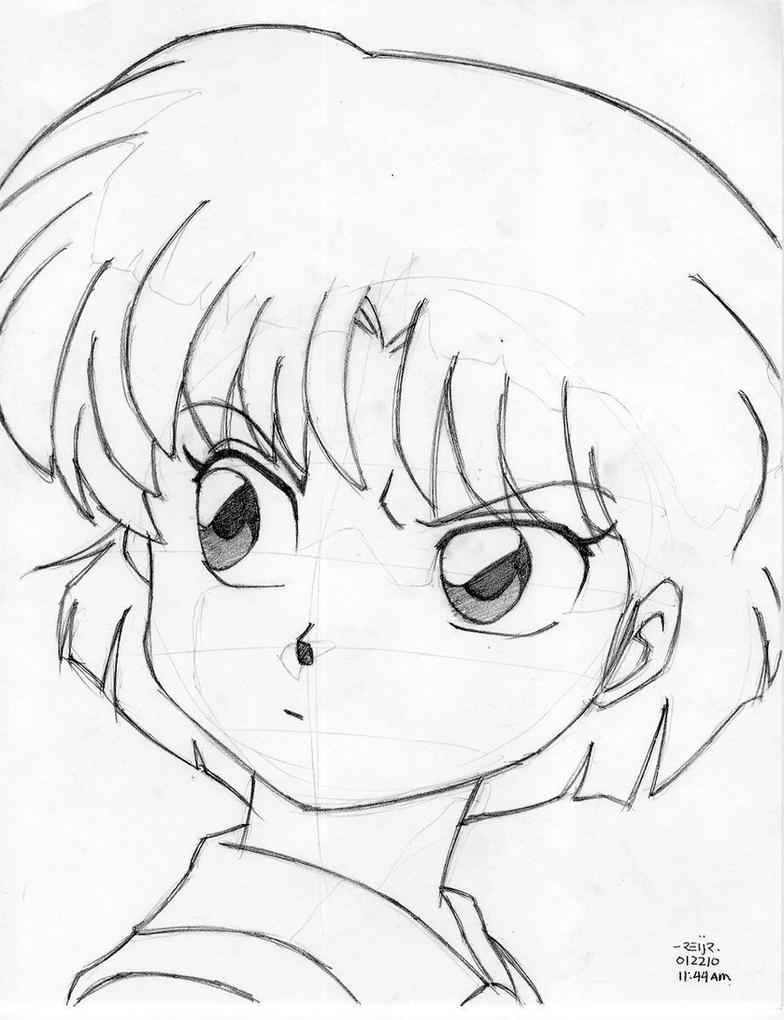 ranma 1 2 coloring pages | akane tendo by reijr on DeviantArt