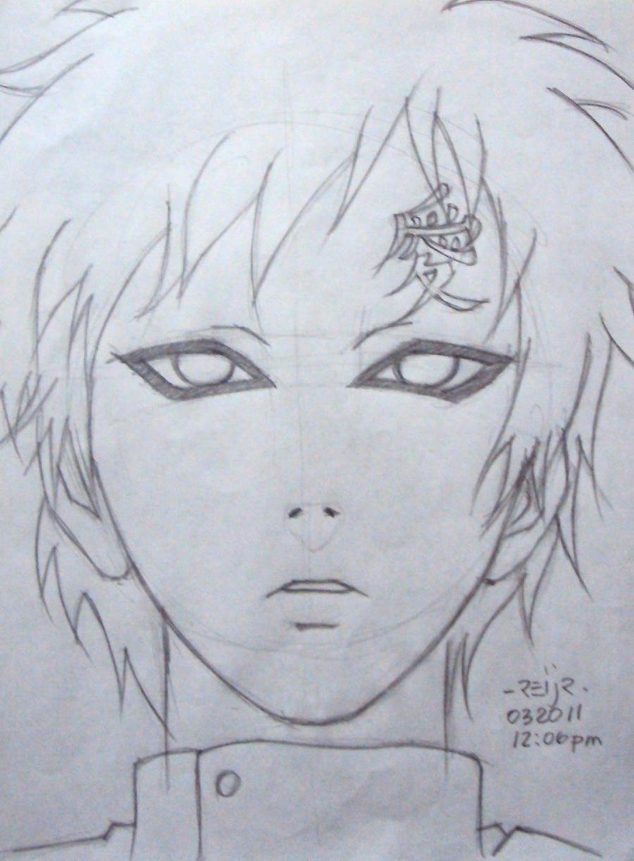 gaara drawings in pencil - photo #18