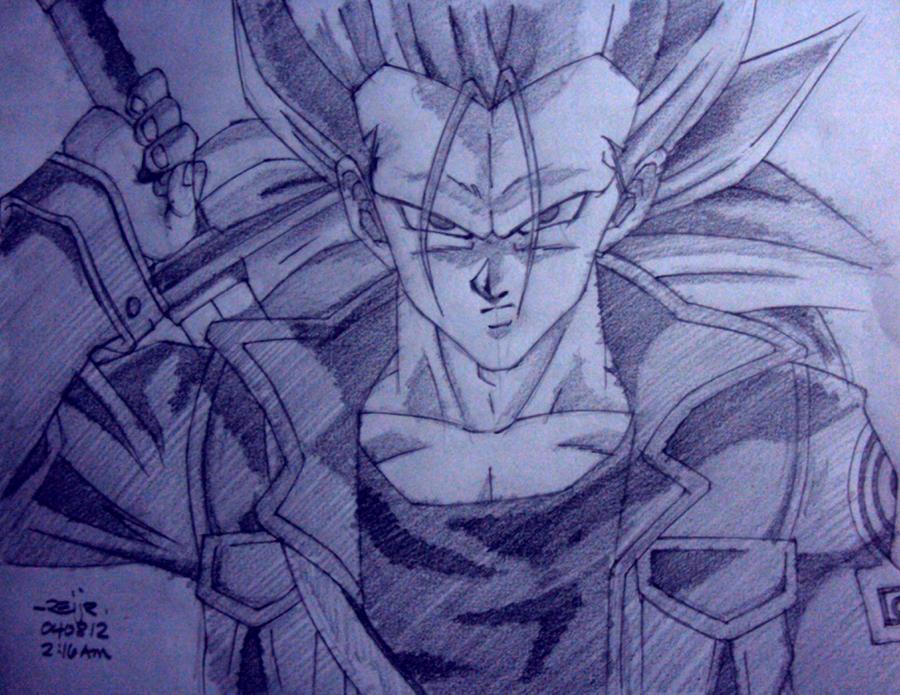 Trunks super saiyan 3 drawings