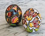 Flower Easter Eggs - Pysanky