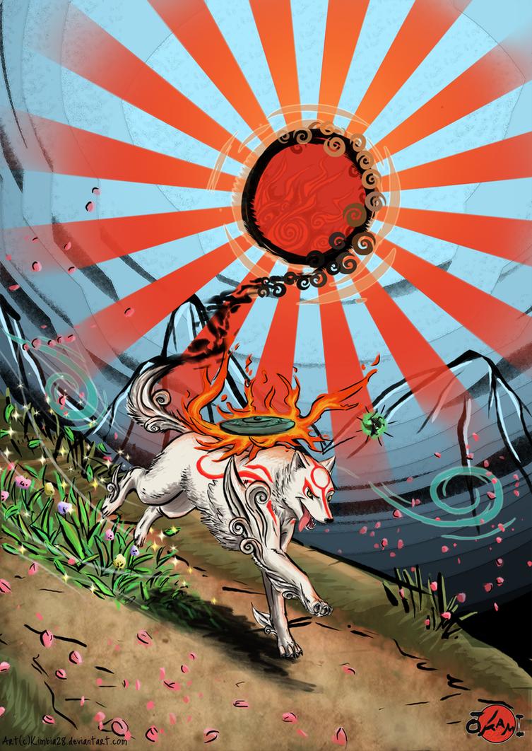 Okami rising sun by Kimbia28