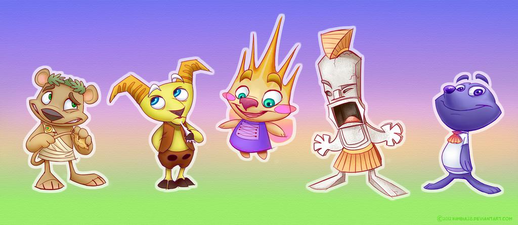 Spyro YotD~Sunrise Spring NPCs~ by ZhBU