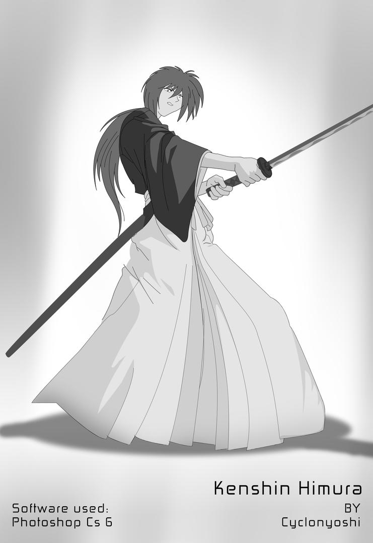 Kenshin Himura by cyclonyoshi