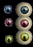 Photoshop resources pack 5) Old Animatronic's eyes
