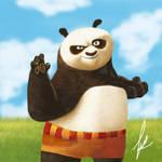 Po Kung fu panda painting