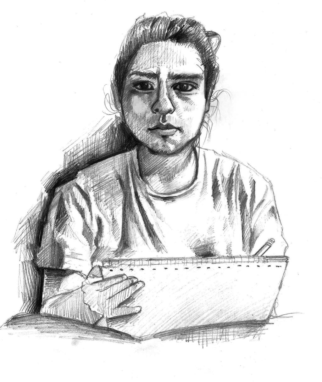 Self-portrait by rehash435