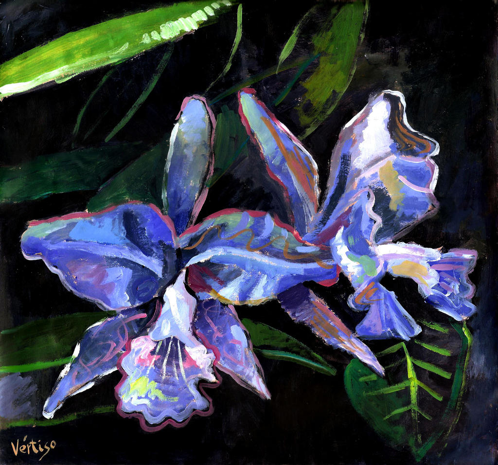 Blue Orchids by rehash435