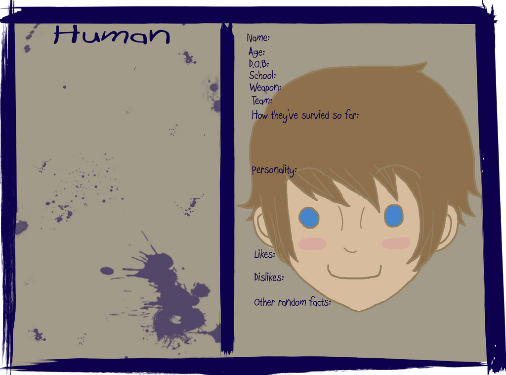 AOTD: Human Application by RougeChocobo