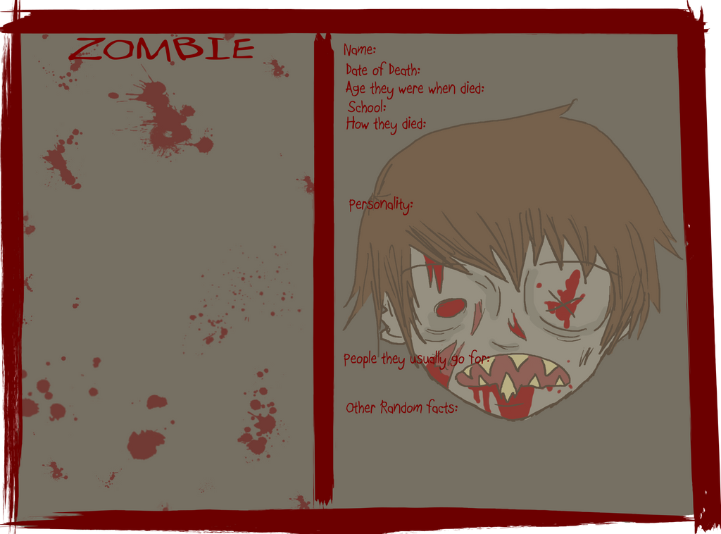AOTD: Zombie Application by RougeChocobo