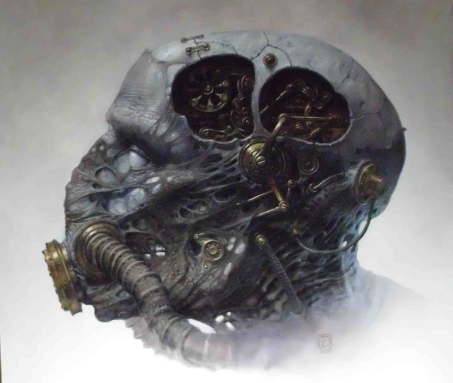 Biomechanical Head by 22zddr