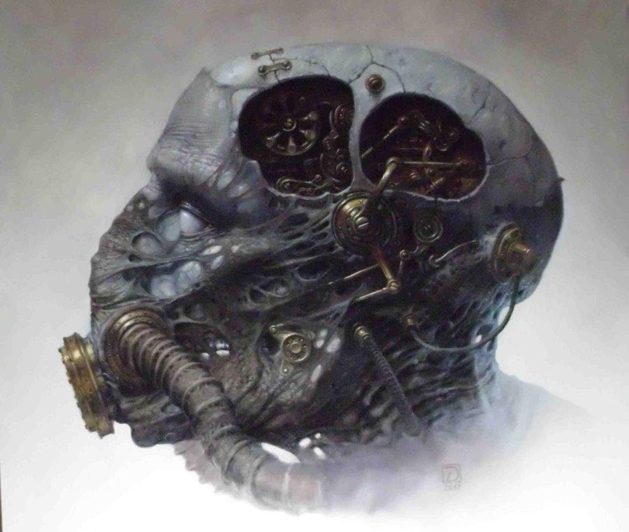 Biomechanical Head By 22zddr On Deviantart