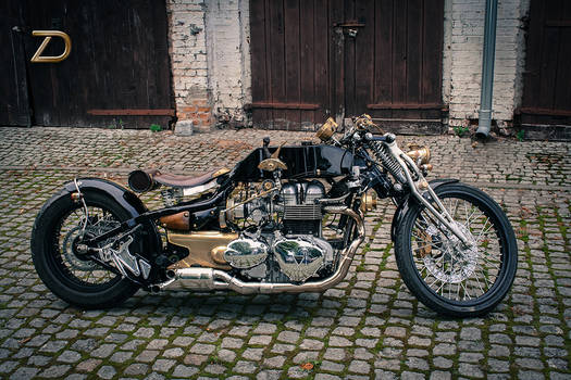 Custom-built Triumph bike
