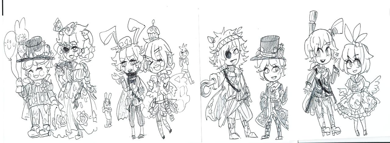 Human fnaf doodle by tyomekou on deviantart for Fnaf anime coloring pages