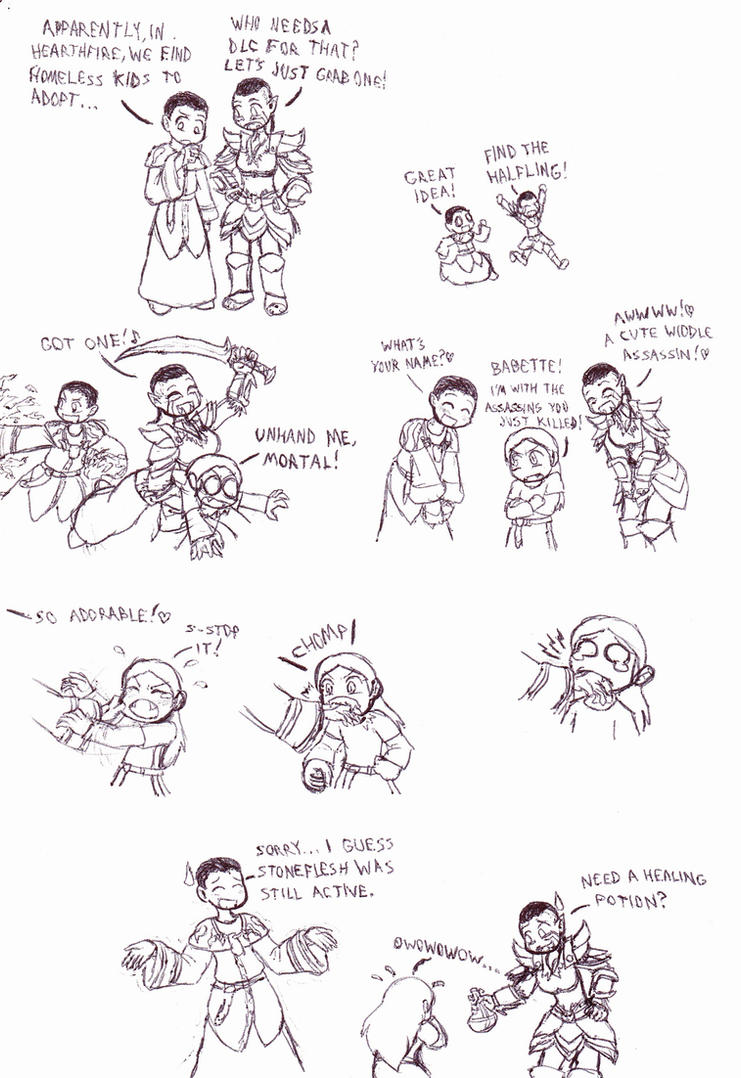 Skyrim Adventures: Adoption by Cerberus123