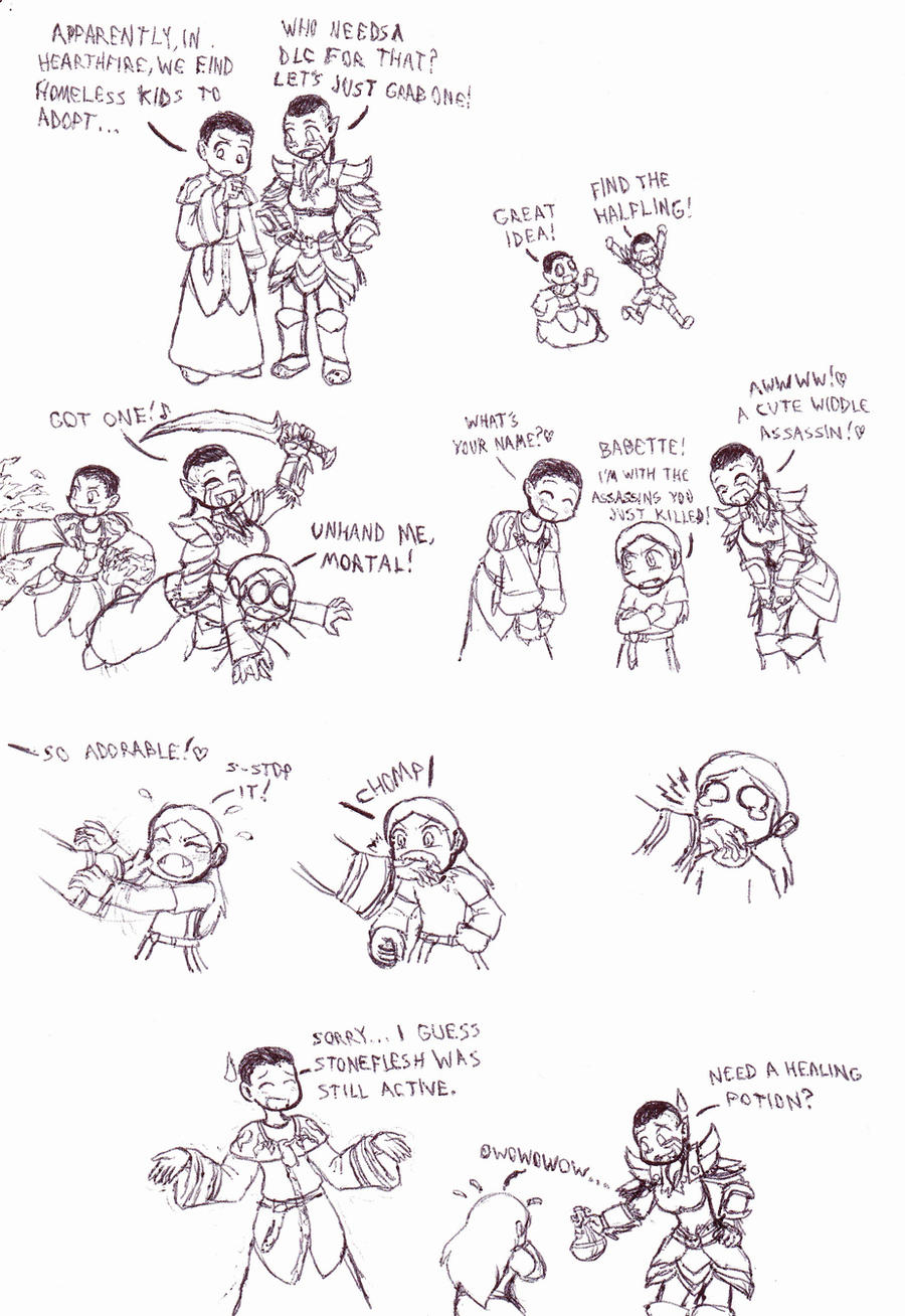 Skyrim Adventures: Adoption by Cerberus123
