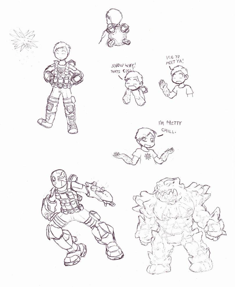 DCU Hero 1: Vic Snowfall by Cerberus123