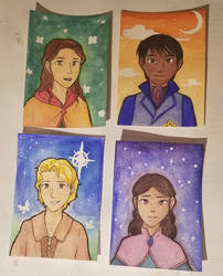 Watercolor Cards - Marchen and Garners