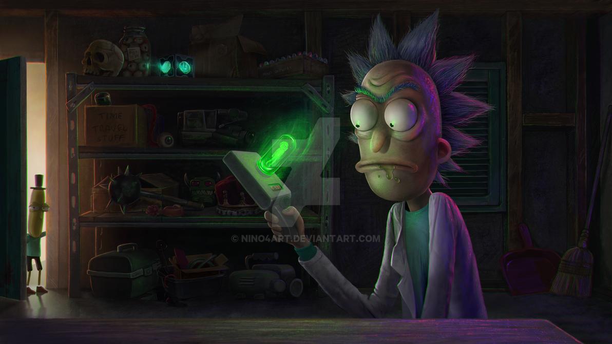 Rick and Morty Fan art by nino4art