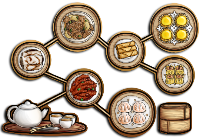 Chinese Food Images Cartoon Black White
