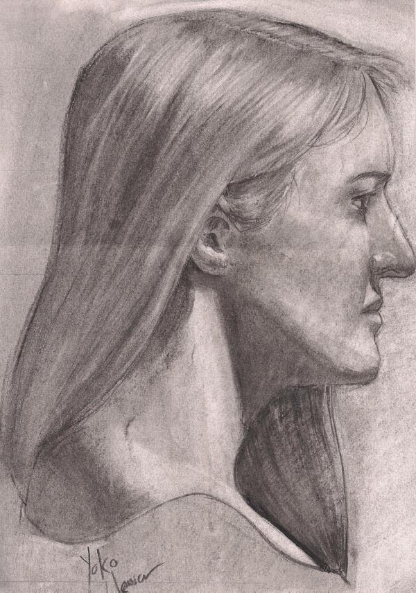 Head Drawing - 02 by Nytrinhia