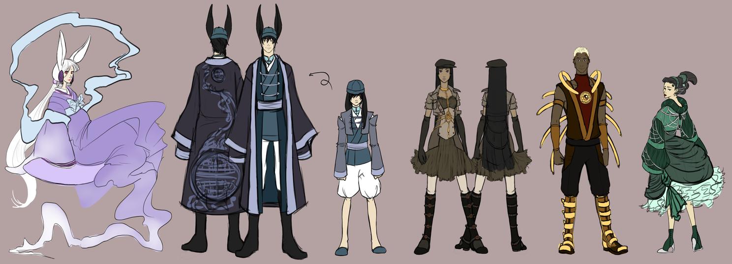 DotSW - Character Mock Ups by Nytrinhia