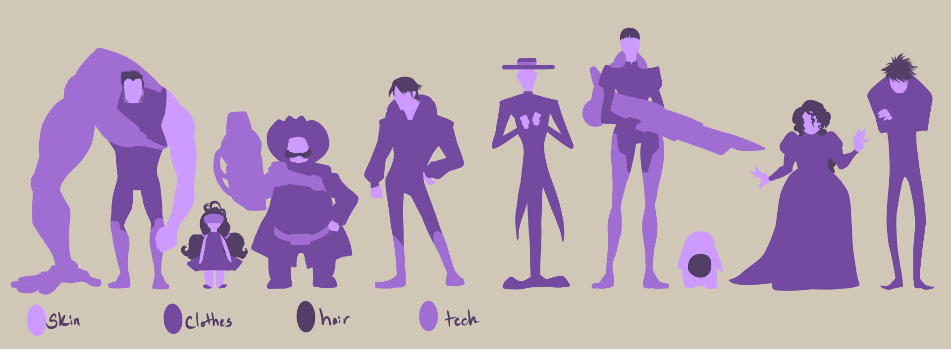 Space Cowyboys Silhouettes by Nytrinhia