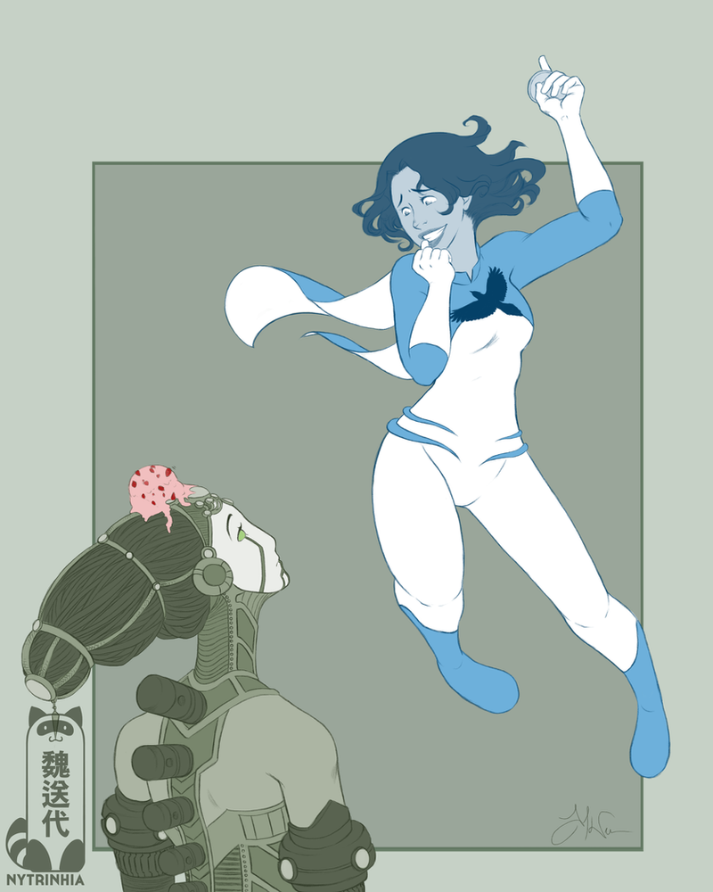 Comm - Okagami - Blue Jay and Niipo by Nytrinhia