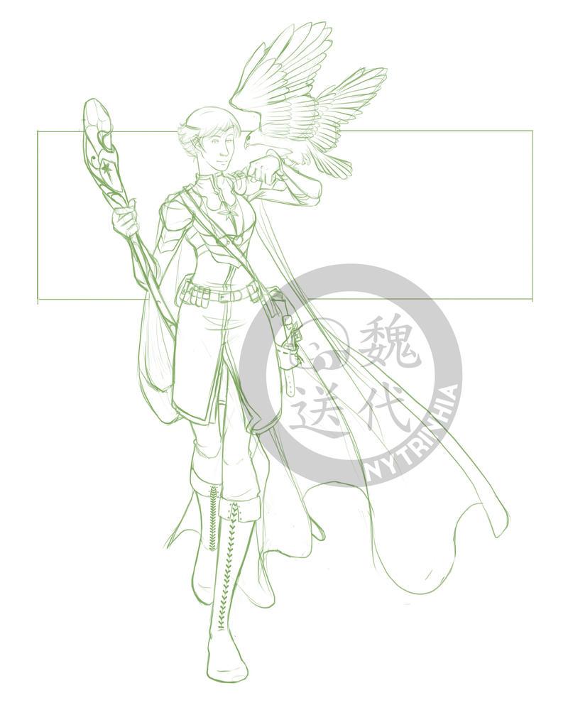 Comm - Winterwolf27 - Sorrowhawk Refined by Nytrinhia