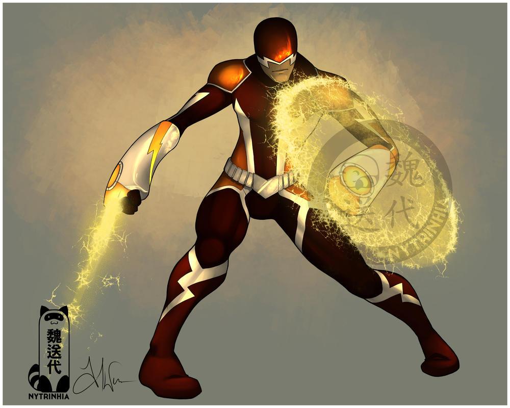Comm - CoHMissKyo - Lightning Hero by Nytrinhia