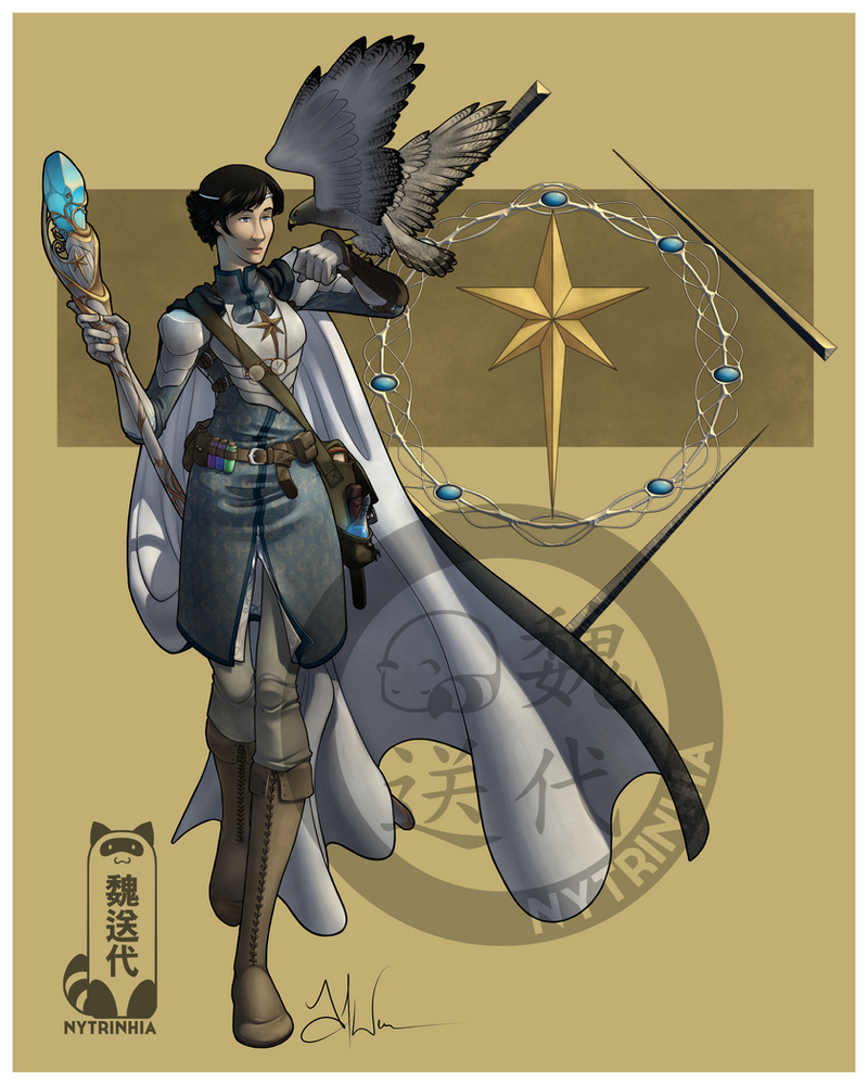Comm - Winterwolf27 - Sorrowhawk by Nytrinhia