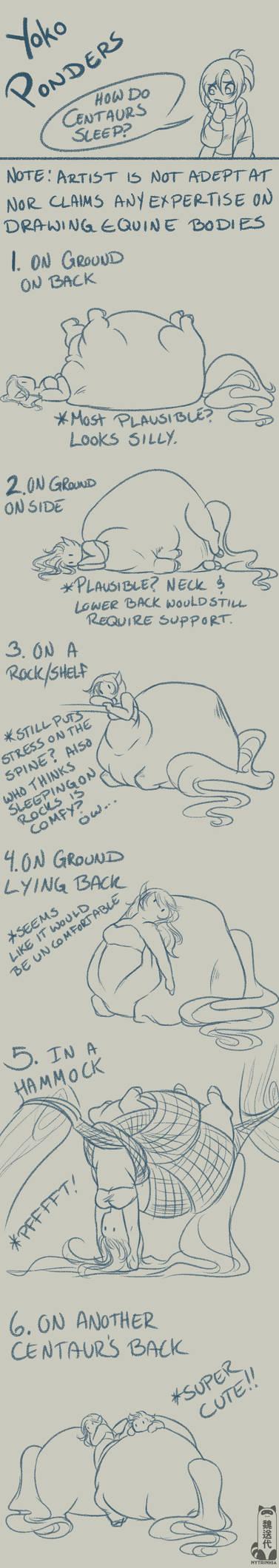 How Do Centaurs Sleep?