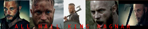 Vikings - Ragnar Lothbrok 500 x 100 Banner by Super6-4