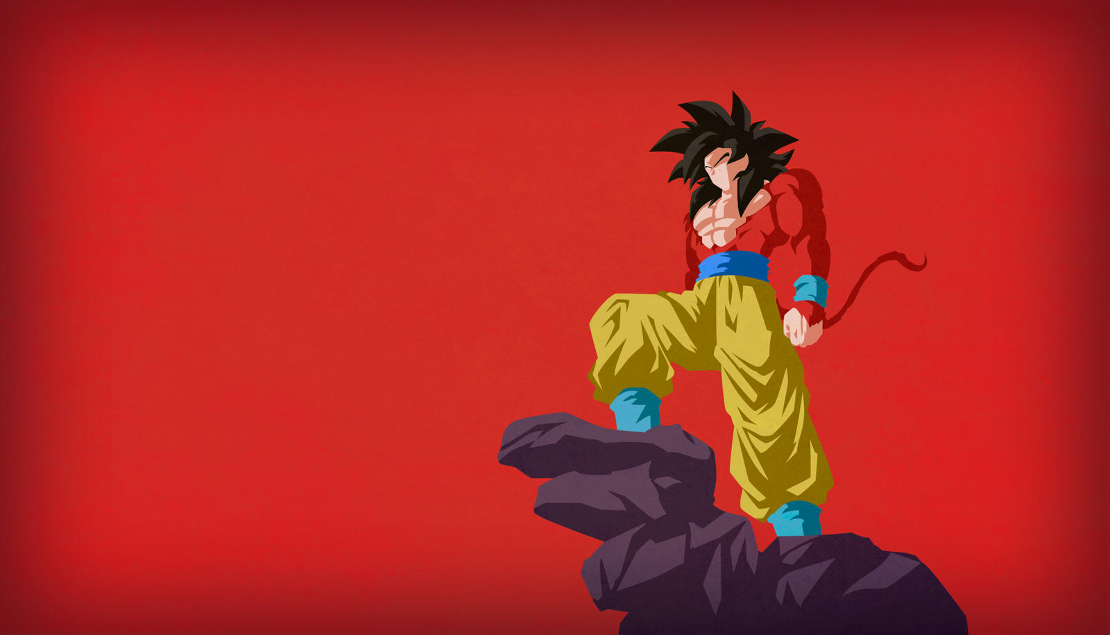 Goku ssj4 v2 minimalist wallpaper by horira21 on deviantart - Ssj4 vegeta wallpaper ...