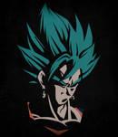 Vegetto Super Saiyan Blue - Minimalist by Horira21