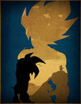 The Legendary Super Saiyan - Minimalist Poster