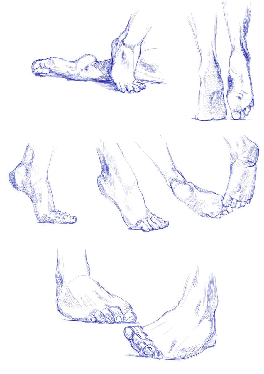 Feet study by ArrAy88